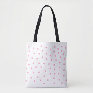 Bubble Gum Pink Dotted Tote