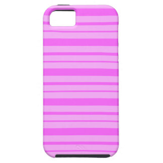 Bubble Gum Pink & Shocking Pink Stripes iPhone 5 iPhone 5 Cover