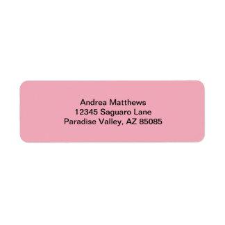Bubble Gum Pink Solid Color Return Address Label