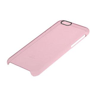 Bubble Gum Solid Colour Clear iPhone 6/6S Case