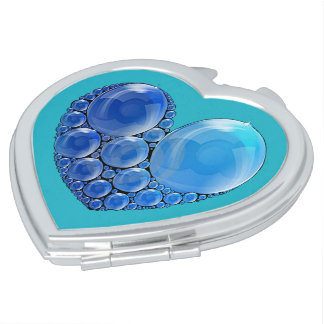 Bubble Heart Compact Mirror