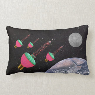 Bubble Lights in Space Lumbar Cushion