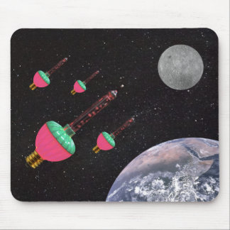 Bubble Lights in Space Mouse Pad