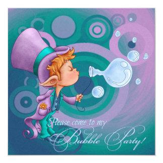 Bubble Magic 13 Cm X 13 Cm Square Invitation Card