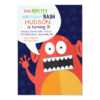 Bubble Monster Party Invitation