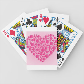 Bubble Pink  Hart Bicycle Playing Cards