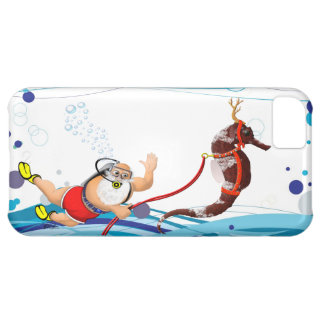 Bubble Santa Claus and Seahorse iPhone 5C Case