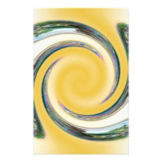 Bubble Spiral Custom Stationery