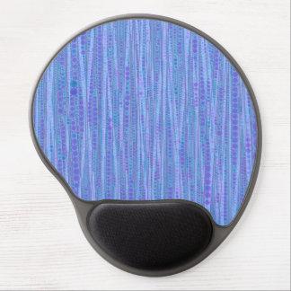 Bubble Stripes blue Gel Mouse Mats