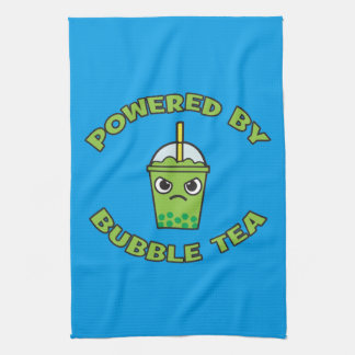 Bubble Tea, Powered By Bubble Tea - Cute Kawaii Tea Towel