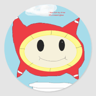 bubble thing classic round sticker