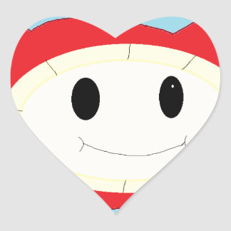 bubble thing heart sticker