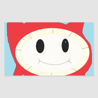 bubble thing rectangular sticker