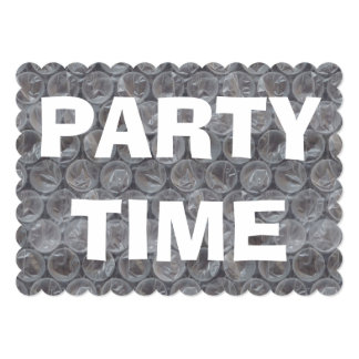 Bubble wrap housewarming party invitation
