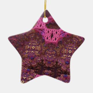Bubblegum Aztec Ceramic Star Decoration