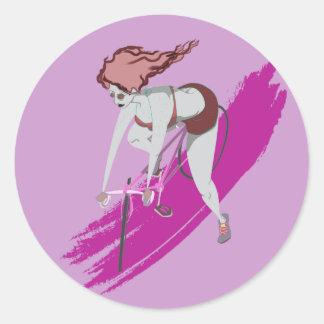 Bubblegum Biker Classic Round Sticker