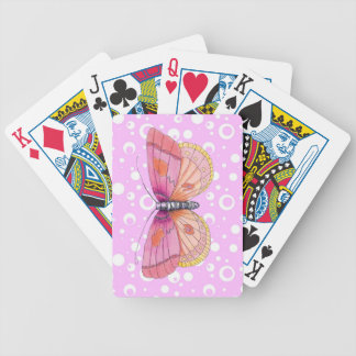 Bubblegum Butterflies Bicycle Playing Cards