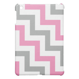 Bubblegum Pink and Gray Geometric Pattern iPad Mini Cover