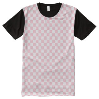 Bubblegum Pink Checkerboard All-Over Print T-Shirt
