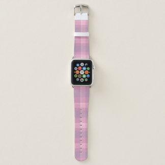 Bubblegum Pink Plaid Apple Watch Band