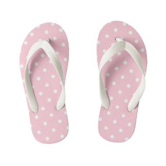 Bubblegum Pink Polka Dots Kid's Thongs