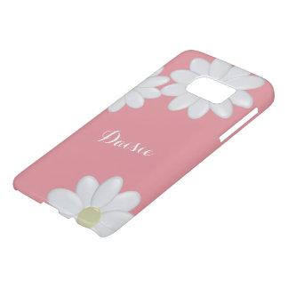 Bubblegum Pink White Daisy Flowers Personalised S7
