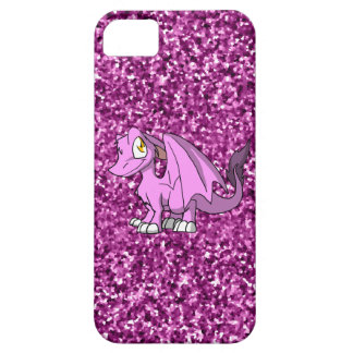 Bubblegum SD Furry Dragon w/ Pink Glitter Back iPhone 5 Covers