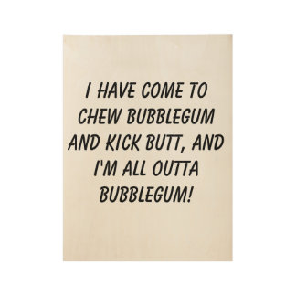 Bubblegum Wood Poster