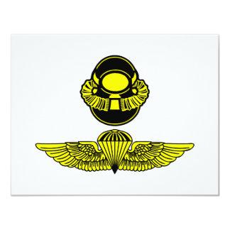 Bubblehead Helmet & Jumpwings 11 Cm X 14 Cm Invitation Card