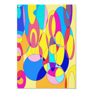 Bubbles 9 Cm X 13 Cm Invitation Card