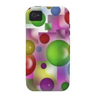 Bubbles and cubes case for the iPhone 4