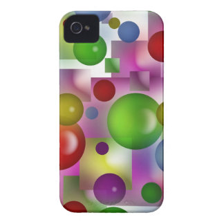 Bubbles and cubes iPhone 4 Case-Mate case