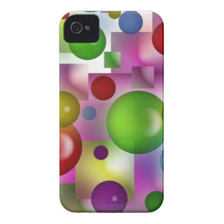 Bubbles and cubes iPhone 4 cases