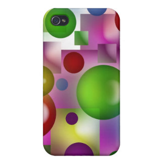 Bubbles and cubes covers for iPhone 4