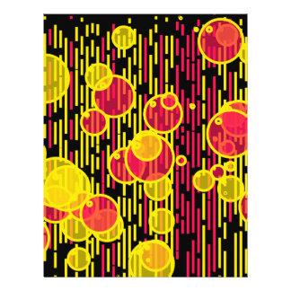 Bubbles and lines 21.5 cm x 28 cm flyer