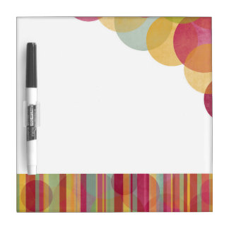Bubbles and stripes: multicolored dry erase boards