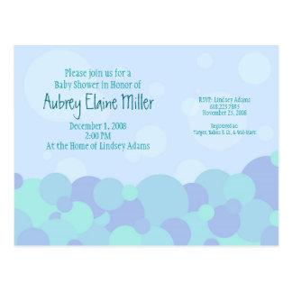 Bubbles Baby Shower Invitation Post Card