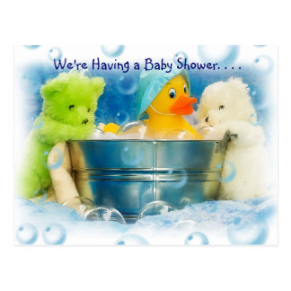 Bubbles Baby Shower Invitations