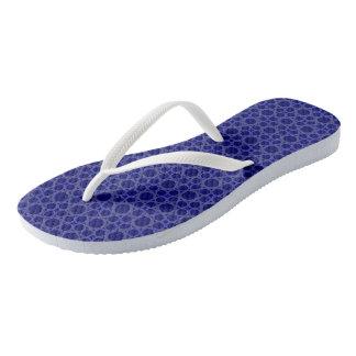 Bubbles Blue Grey Flip Flops