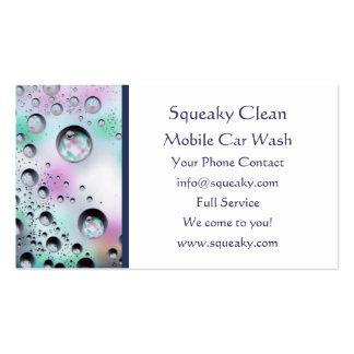 Bubbles Car Wash Business Card Template