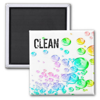 bubbles clen dirty Dishwasher Magnets