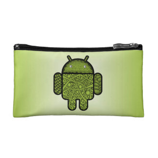 Bubbles Doodle Character for the Android™ robot Cosmetic Bags
