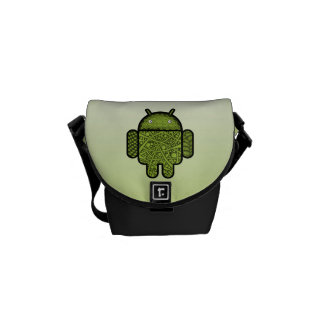 Bubbles Doodle Character for the Android™ robot Messenger Bag