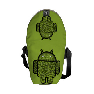 Bubbles Doodle Character for the Android™ robot Messenger Bags