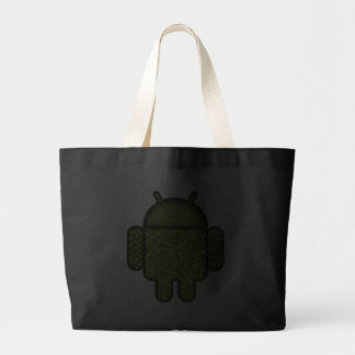 Bubbles Doodle Character for the Android™ robot Jumbo Tote Bag