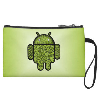Bubbles Doodle Character for the Android™ robot Wristlet Clutch