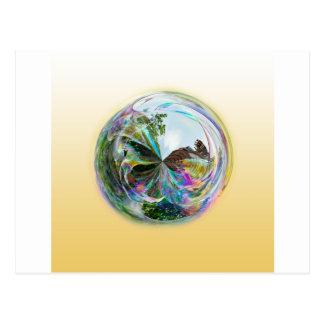 Bubbles Globe Postcard