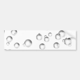 Bubbles in Black and White Bumper Sticker