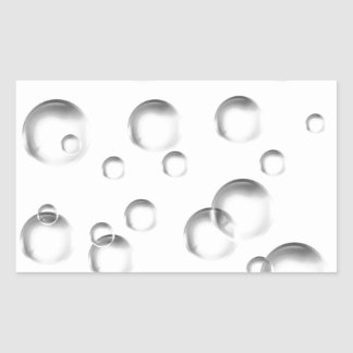 Bubbles in Black and White Rectangular Sticker