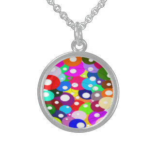 BUBBLES IN DIFFERENT STERLING SILVER NECKLACE